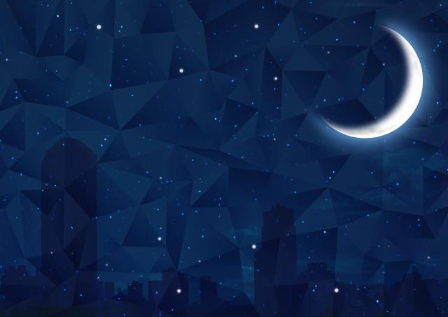 星ひとみ 上弦の月